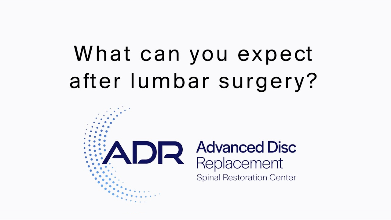 What Can You Expect After Lumbar Surgery